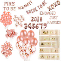 Rose Gold Foil Balloon Sets Helium Confetti Birthday Wedding Party Love Decor