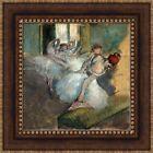 """Edgar Degas Ballet Dancers Framed Canvas Giclee Print 21""""x21"""" (V02-05)"""