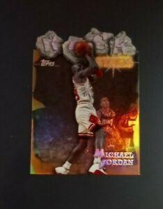 1997 Topps Michael Jordan Rock Stars Die Cut Refractor Card #RS-1 nm - mint