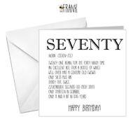 Funny 70th Birthday Card Happy 70 Birthday Dad Rude Card for Friend Seventieth