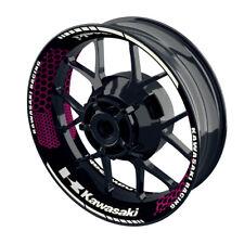 Felgenaufkleber Motorrad Felgenrandaufkleber Kawasaki Hexagon pink - S