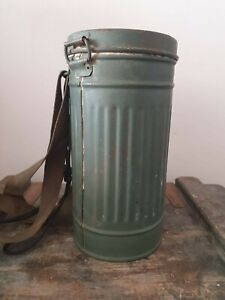 WW2 Early German Gas Mask Cannister