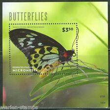 MICRONESIA 2014 BUTTERFLIES SOUVENIR SHEET MINT NH