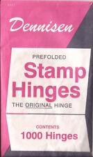 T 3 Packs of Dennisen brand folded stamp hinges -1000 per package-new-Free Ship