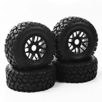 4Pcs Rubber Tyre Wheels Rims 17mm Hex For 1:10 TRAXXAS SLASH Short Course Truck