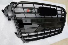 For Audi A4 B8.5 S4 2013-2016 Mesh Grill Front Vent Pure Grille With Black Ring