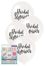 8 x Bridal To Be Shower Hens Night Party White Balloons Decoration 30cm Helium