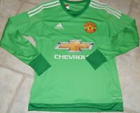 MANCHESTER UNITED GOALKEEPER  ADIDAS JERSEY CLIMACOOL GREEN!