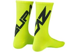Supacaz SupaSox Twisted Cycling Socks Neon Yellow/Black, Large 44-47 / 10.5-12