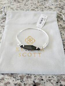 Kendra Scott Lawrence Cuff Bracelet Silver Black Mother of Pearl NWT $85