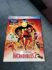 Authentic Pixar The Incredibles 2 Blu-ray Dvd & Digital Copy Code with Slipcover