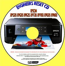 EPSON XP520 XP620 XP720 XP760 XP820 PRINTER WASTE INK PAD SATURATED RESET CD NEW