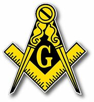 Masonic Freemason Logo Car Truck Outdoor Decal Sticker 4""