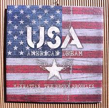 Dekofliese Geburtstag Danke Mitbringsel Geschenkidee USA Amerika Flagge (042)