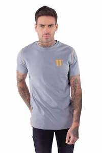 11 Degrees Contrast Logo T-Shirt Ash Green/Tangerine *BNWT* CHOOSE SIZE*