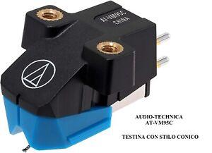 AUDIO-TECHNICA AT VM95C Testina CONICA Hi-Fi per Giradischi con STILO PUNTINA