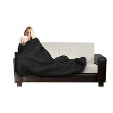Electric Heated Throw Black Over Under Blanket Fleece Bed Washable Soft Mattress