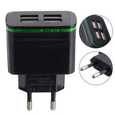 4 Ports USB Home Wall Charger 5V 4A Power Plug Travel Phone Adapter 110-220V