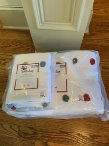 Pottery Barn Kids Pom Pom Quilt Twin w/ Sham NWT not just for the holiday!