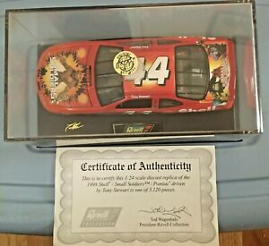 TONY STEWART #44 SMALL SOLDIERS SHELL 1:24 DIECAST CAR REVELL 1998 Certificate
