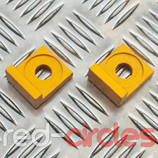12mm GOLD ALLOY L BLOCK PIT DIRT BIKE CHAIN TENSIONERS ADJUSTERS 110cc 125cc 140