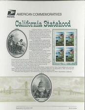 USPS COMMEMORATIVE PANEL #611 CALIFORNIA STATEHOOD #3438