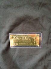 Kansas City Chiefs vs. Minnesota Vikings Super Bowl IV 22kt Gold Ticket (NEW)