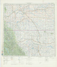 Russian Soviet Military Topographic Maps - LETHBRIDGE (Canada), 1:500K, ed. 1981