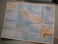HAWAII MAP THE MAKING OF AMERICA+ HISTORY National Geographic November 1983 MINT