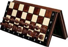 échec, jeu d'échecs échiquier magnétique, échiquier 27 x 27 cm bois