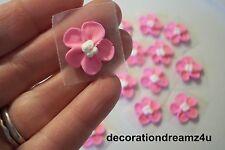 "12 - 3/4"" Sugar Royal Icing Edible Flowers Cake Cupcake Wedding Handmade USA"