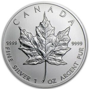 Silver 1 ounce Canadian Maple - 2018 Coin