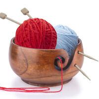 Smooth Handmade Wooden Bowl Yarn Ball Storage Knitting Line Crochet Accessory