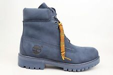 Timberland 6 in Premium Navy Mono Leather Mens Boot Shoes TB0A176X 1701-88