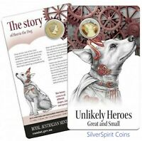 2015 AUSTRALIAN UNLIKELY HEROES Horrie the Dog Coin on Card