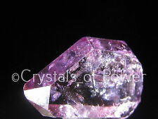ONE RARE STARBRARY PINK / ROSE AURA HERKIMER DIAMOND QUARTZ CRYSTAL! HERKIMER NY