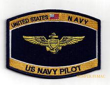 PILOT US NAVAL AVIATOR HAT PATCH USS NAVY PILOT WING TOPGUN PIN UP GIFT USN WOW