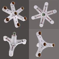 1 to 4/7 LED Light Lamp Bulb Adapter Holder Converter Socket Base Splitter