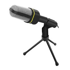 Professional 3.5mm Podcast Studio Microphone Mic w/ Stand for Skype Desktop PC