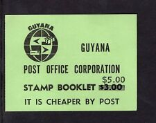 Guyana 1983 $5 on $3 Queen Victoria stamps 20 x 25c    Booklet SB29