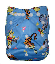 Reusable Baby Infant Nappy Modern Cloth Diapers and Insert, Winnie the pooh bear