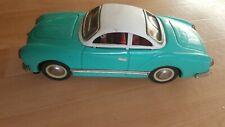 Vintage metal toy SEDAN MF 743 blue 60's 10 inches (25cm) Friction car
