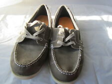 MERONA Men's Loafers Green/Gray Size 13 Leather Uppers Non Marking