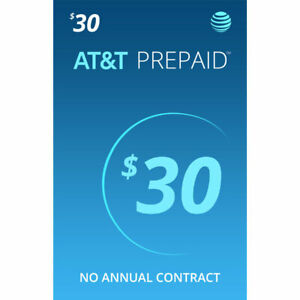 AT&T $30 Prepaid Sim card With 1 Month Service Included