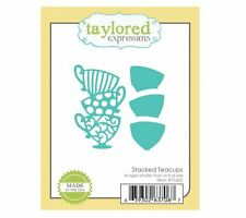 Taylored Expressions Cutting Die Set ~ STACKED TEACUPS ~ Hot Drinks ~TE462
