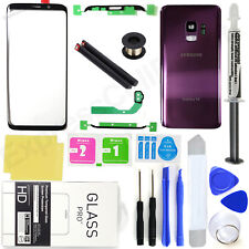For Samsung Galaxy S9 G960 -OEM Purple- Front Screen Glass Back Replacement Kit