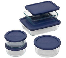 NEW Pyrex Simply Store Set 5 Glass Kitchenware Containers Housewarming Gift Idea