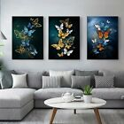 Blue and Gold  Abstract 3PC Panels framed canvas picture home decor Art