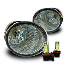 Fit 13-18 Subaru Outback Replacement Fog Lights Lamps w/COB LED Bulbs - Clear