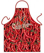 Chili peppers kitchen apron Mexican food hot peppers unisex polyester ITATI